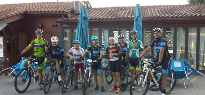 All'eremo di S. Benedetto in Montebuono con gli amici di Sabina in bici
