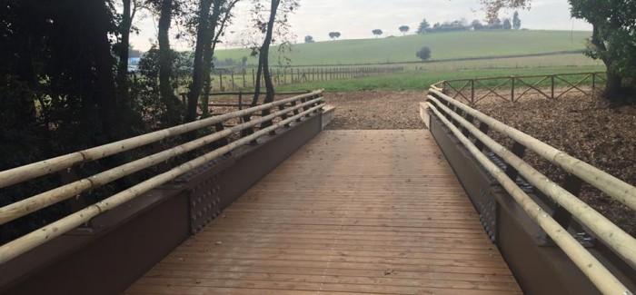 Inaugurato il ponte ciclo-pedonale sulla Francigena