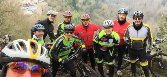 Uscita XCM del sabato tra Calcata e Castel Fogliano