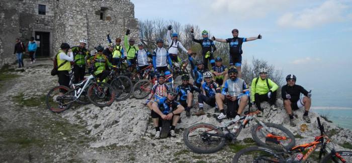 Sul Soratte con gli amici di Sabina in Bici e MTB Velino