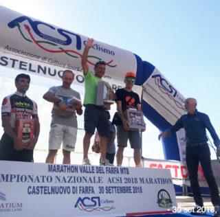 Ettore Nurzia sul podio della Valle del Farfa MTB 2018