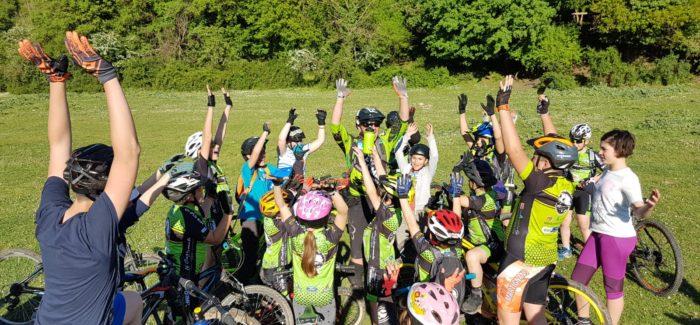Lezione della Bike School alle Valli del Sorbo
