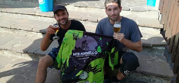 Emanuele e Clarence al bike park del Monte Amiata