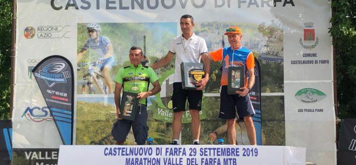 Ettore Nurzia e Walter Vecchiato sul podio della Valle del Farfa MTB 2019