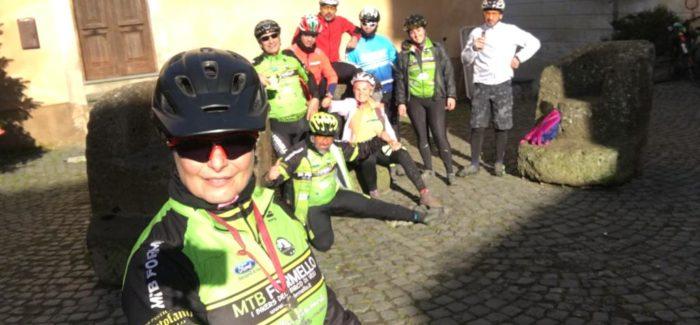 A Calcata incontrando amici bikers