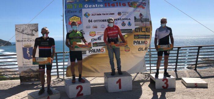 Ettore Nurzia sul podio della 1° XCP Sulla Via di Ulisse