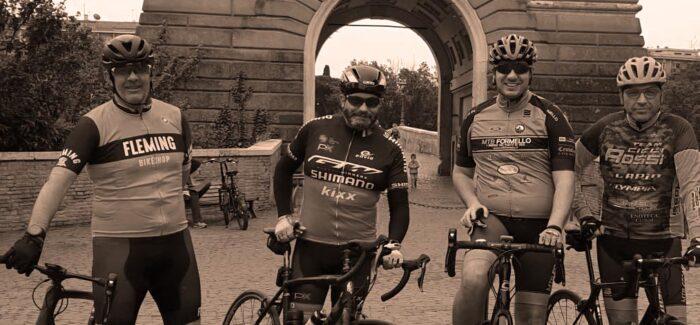 Caffè a ponte Milvio pedalando sulla ciclabile in BDC